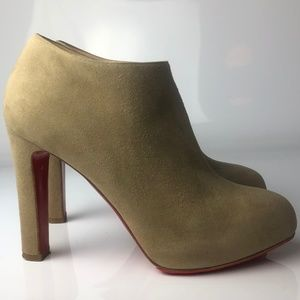Christian Louboutin Vicky 120 Gray Suede Boots 35